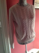 H&M Ladies Cable Knit Jumper - M- Pink - BNWT