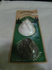 RARE CERAMIC MOUNT ST. HELENS SALT AND PEPPER SHAKERS-ORIGINAL PACKAGE