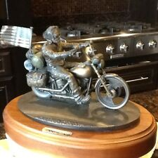 "1994 HARLEY DAVIDSON BRONZE SCULPTURE ""MILWAUKEE RIDE"" BY ARTIST MARK PATRICK"