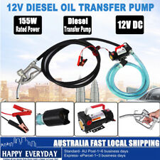 12V DC Bowser Oil Transfer Pump Station Diesel Electric BioDiesel Fuel Protable