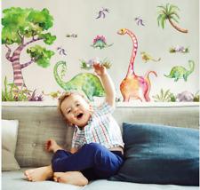 Wall Stickers watercolour Dinosaur Jurassic park kids boy decal decor Nursery
