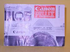 Original(!) Canon PELLIX Instruction Manual - in Swedish!