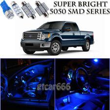 For Acura TL 2004-2008 Blue LED Interior Lights Kit + License Plate Light 11pcs