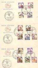 REPUBBLICA: 1980 CASTELLI, PRIMA EMISSIONE, 5 FDC CON 24 VALORI