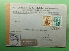 DR WHO 1949 AUSTRIA VIENNA AIRMAIL TO USA CENSORED  g40528