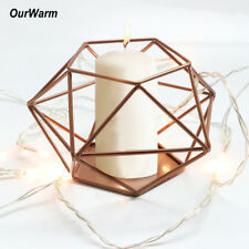 Gold Metal Candlestick Geometric Candle Holder Wedding Tealight Candle Holder