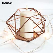 Iron Geometric Candle Holder Metal Tea Light Candlestick Home Wedding Decor