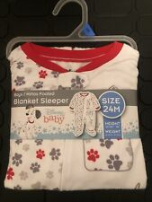 New Disney Infant Boys 101 Dalmatians Footie Blanket Sleeper Pajamas 24 Months