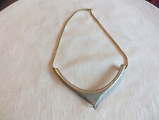 Beautiful Necklace Gold & Matte Silver Tone 16 Inches Long CUTE