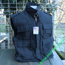 EEUU chaleco, Ranger, negro,  forrado con muchos bolsillos TALLA L 04102A