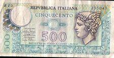 BANCONOTA DA 500 LIRE repubblica italiana   (CAR-8)