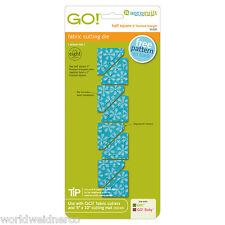 "AccuQuilt GO! & Baby Fabric Cutting Die Half Square Triangle-1"" Square 55320"