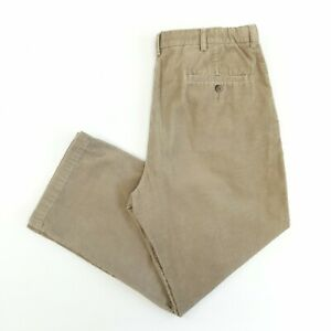 Vintage Corduroy Trousers Beige 36W 28L Relaxed Fit