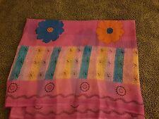 Colorido Rosa Impreso Sari, Sari de Bollywood,