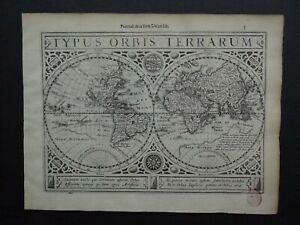 1630 Jansson / Mercator Atlas WORLD map  Typus Orbis Terrarum - Mappemonde