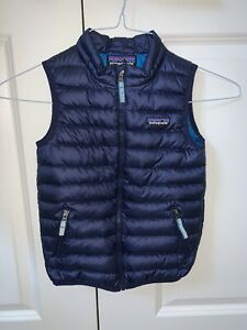 Worn Once Patagonia Down Sweater Vest Boys 5T 5 T Navy Blue
