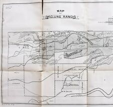 New Listing1877 McClung Ranch Kern California Map Canals Weirs Original Extremely Rare
