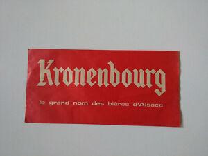 Kronenbourg le grand nom bar bistrot Chapeau publicitaire calot papier pub