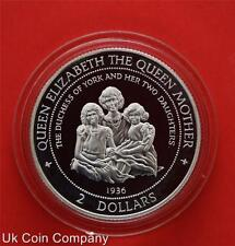 1997 Cook Islands Dutchess Of York Sterling Silver Proof $2 Two Dollar Coin