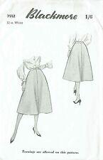 "Factory Folded Vintage 50s Blackmore A-Line Skirt Size Waist 32"""