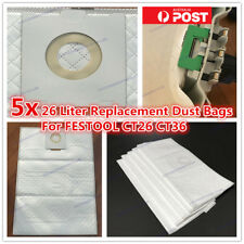 5x 26 LITER SYNTHETIC VACUUM BAGS FOR FESTOOL CT 26 CT 36 E REPLACEMENT DUST BAG