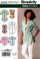 Simplicity Sewing Pattern 2255 Women's clothing 14-22 Tops Tunic Shirts Blouse