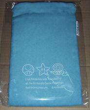 Brand New Japan Nintendo Club Light Blue Pouch fits DS DS Lite 3DS 3DS XL