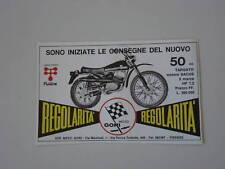 advertising Pubblicità 1972 MOTO GORI REGOLARITA' 50