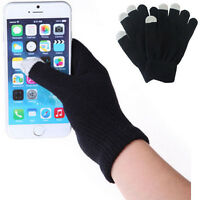 BLACK Magic Touch Screen Gloves Smart Phone Tablet Winter Knit Warmer Mittens