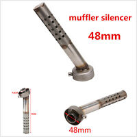 48mm Motorcycle Angled Exhaust Muffler Insert Baffle Can Bend DB Killer Silencer