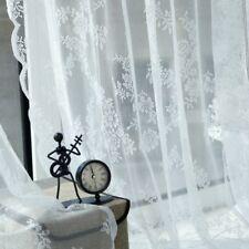 Lace Floral Net Curtains Voile Window Panel Drape Valances Door Divider Decors