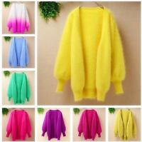 cashmere Mink Fur Warm Cardigan Coat sweater Fluffy Fuzzy Plush Loose Outwear YJ