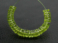 AAA Natural Green Peridot Faceted Rondelle Wheel Gemstone Beads (23020)