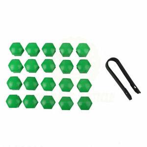 17mm x 20 Green Car Caps Bolts Wheels Nuts Covers For Nissan Mitsubishi Car
