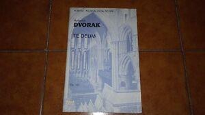 Dvorak Te Deum Partition Chante Piano Vocal Score Belwin Mills