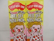 2 DEWYTREE / PEEL OFF NOSE PACK STRAWBERRY-HONEY 2.36 OZ. EACH EXP 4/21+ BB 2218