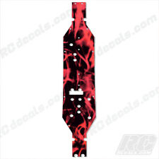 1/10 EXO Terra Buggy Axial Main Chassis Plate Protector EXO AX30798 Flames Red