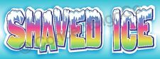 4'x10' SHAVED ICE BANNER Sign Snow Sno Cones Hawaiian Concessions Stand Fair XL