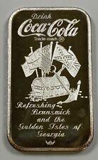 .999 1 oz Fine Silver Bar 75th Anniversary of Coca-Cola Brunswick, Georgia