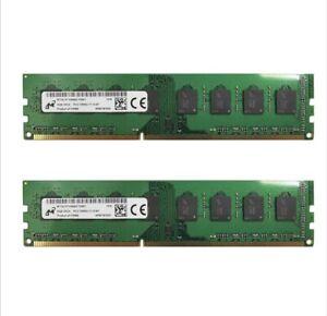 16gb (2x) 8gb Micron PC3-12800U MT16JTF1G64AZ-1G6E1 Desktop Ram Memory