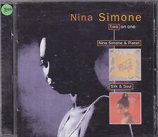 NINA SIMONE - nina simone & piano / silk & soul CD