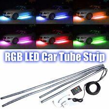 4x RGB LED Car Strip Underglow body Neon Light Kit Sound Active Wireless Control