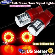 2pcs 7443 7440 Samsung LED Tail Brake Turn Signal Light Projector lens Red #gd
