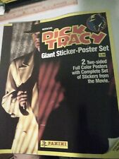 New listing Dick Tracy Official Giant Sticker-Poster Set Panini 1990 Complete set Lot of 20