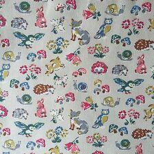 "Cath Kidston Half Yard Cotton Canvas Fabric 56"" Wide Forest Animals_2 DF018"
