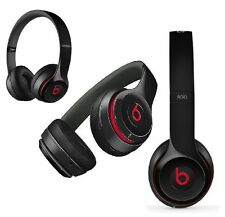 Genuine Beats Solo 2 By Dr Dre HD Wired On Ear Headband Headphones Headset Black