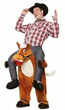 Cowboy Ride On Costume Carry Me Adult Mens Funny Horse Back Riding Rider Rodeo