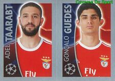 175 ADEL TAARABT / GONCALO GUEDES  BENFICA STICKER CHAMPIONS LEAGUE 2016 TOPPS