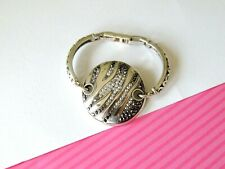 Crystal Disc Bracelet Retired Brighton Zebra Animal Print