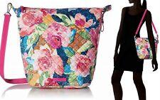 Vera Bradley Carson Hobo Bag Shoulder Crossbody Women's Handbag in Superbloom
